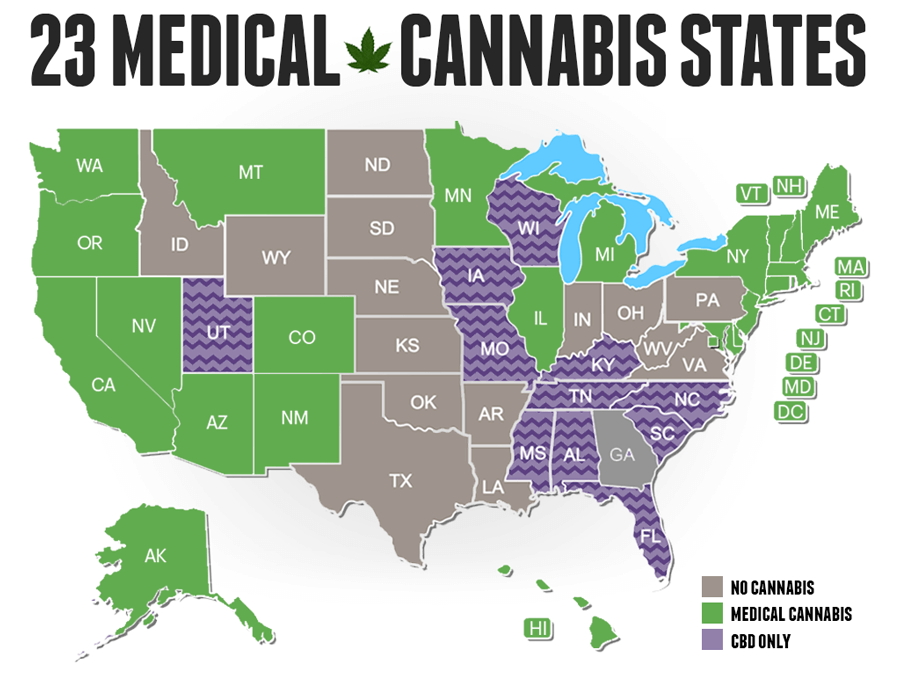 Штаты в которых легализована марихуана когда пол марихуаны